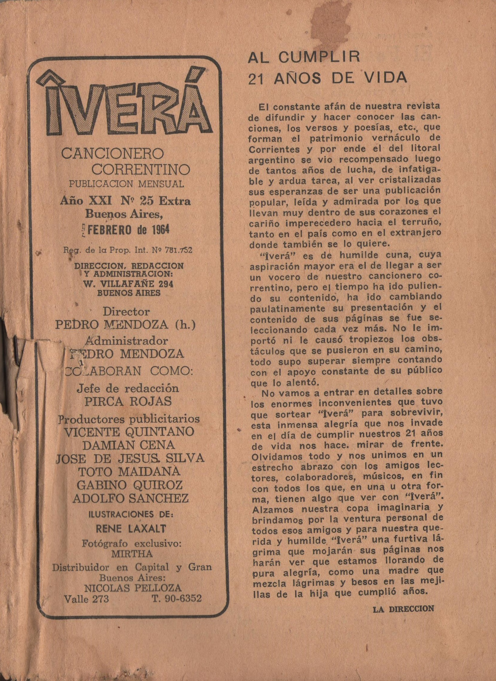 Nº 25 Extra - Febrero de 1964
