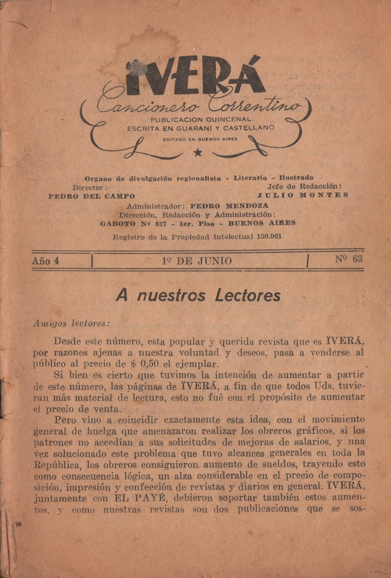 Nº 63 - 1º de Junio de 1947